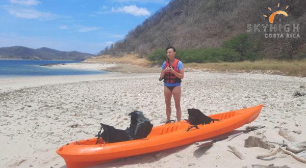 Kayak auf Insel Bolaños